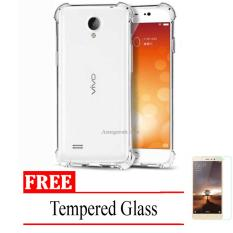Case Anti Shock / Anti Crack Elegant Softcase for Vivo Y21 -  Clear + Free Tempered Glass