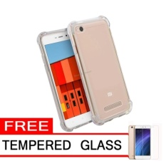 Case Anti Shock / Anti Crack Elegant Softcase for Xiaomi Redmi 4a – Clear FREE Temperd Glass