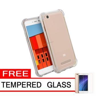 Case Anti Shock / Anti Crack Elegant Softcase for Xiaomi Redmi 4x -White Clear +