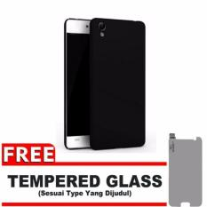 Case Black Moon Oppo Neo 9 / A37  Ultra Slim Matte Softcase (Anti Minyak) FREE Tempered Glass