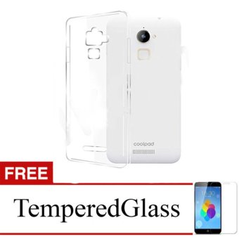 Case for CoolPad Max Lite / R108 - Clear + Gratis Tempered Glass - Ultra Thin Soft Case ...