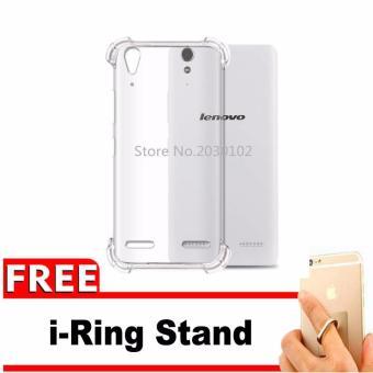 Case for Lenovo A6000 / A6010 / A6000+ / A6010+ Plus / K3   AntiCrack / Anti Pecah / Anti Shock Shockproof Elegant Softcase +Gratis Free iRing Stand Phone Holder - Putih Bening