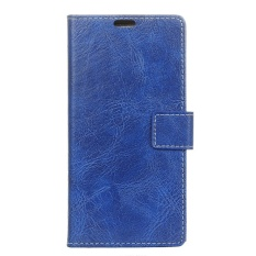Case for LG U Crazy Horse Pattern Leather Wallet Case Cover (Blue) - intl