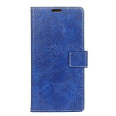 Case for LG U Crazy Horse Pattern Leather Wallet Case Cover (Blue) - intl