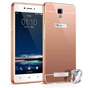 Case For Oppo Neo 3 / R831K Bumper Slide Mirror - Rose Gold