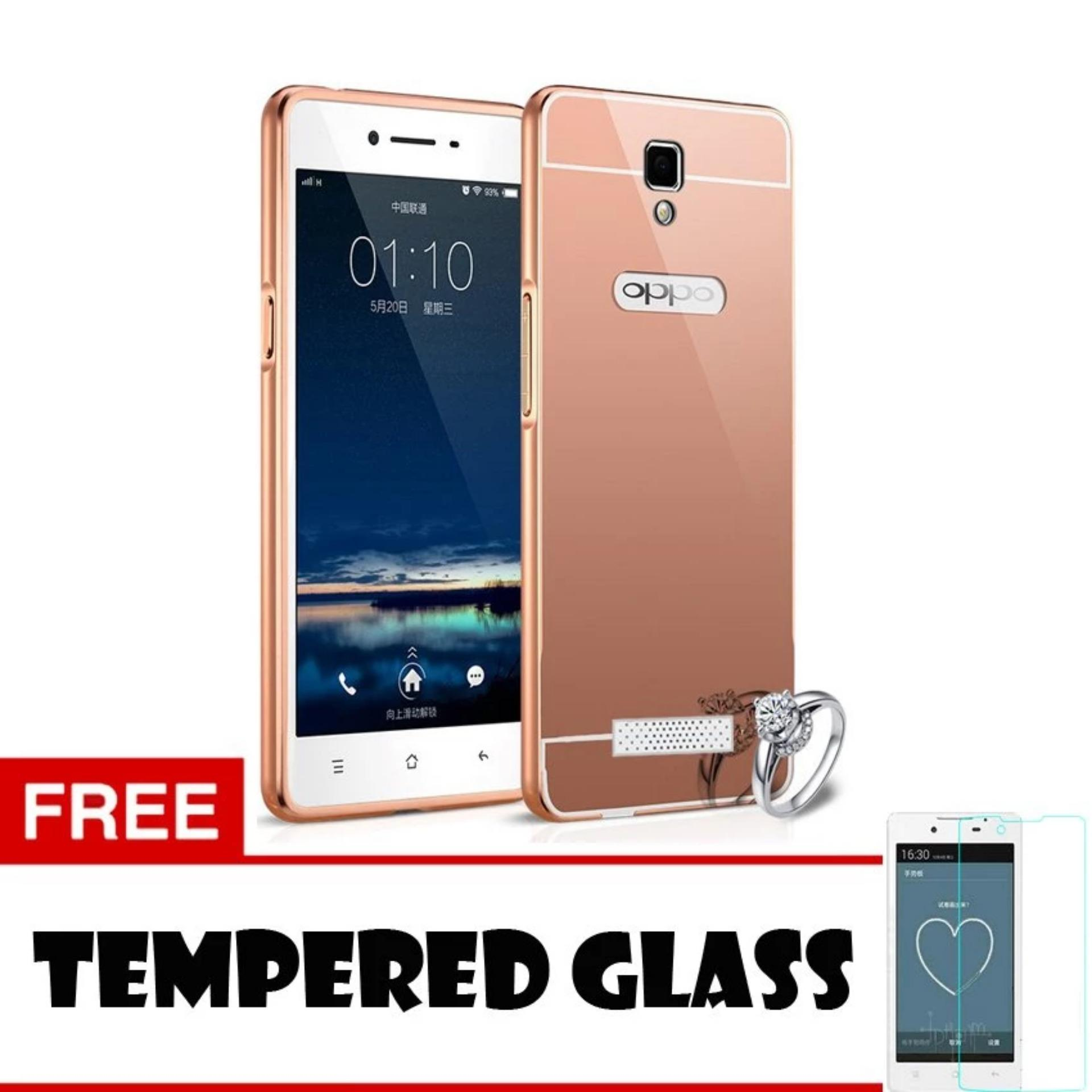 Case For Oppo Neo 3 R831K Bumper Slide Mirror Rose Gold