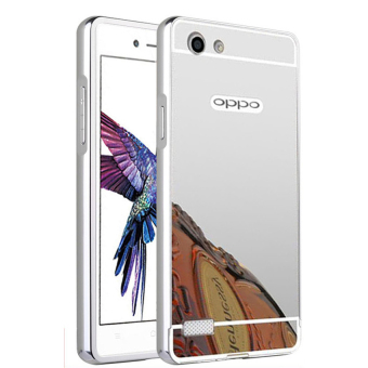 Case For Oppo Neo 7 / A33 Bumper Slide Mirror - Silver