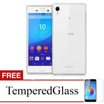 Case For Sony Xperia C3 / D2533 - Clear + Gratis Tempered Glass - Ultra Thin