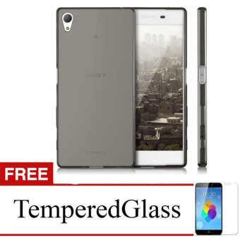 Case For Sony Xperia Z Ultra - Abu-abu + Gratis Tempered Glass - Ultra Thin Soft Case
