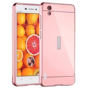 Case For Vivo Y15 Bumper Slide Mirror - Rose Gold