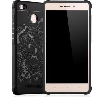 Case For Xiaomi Redmi 3s / Redmi 3 Pro / Redmi 3X Dragon ShockproofHybrid Series - Hitam