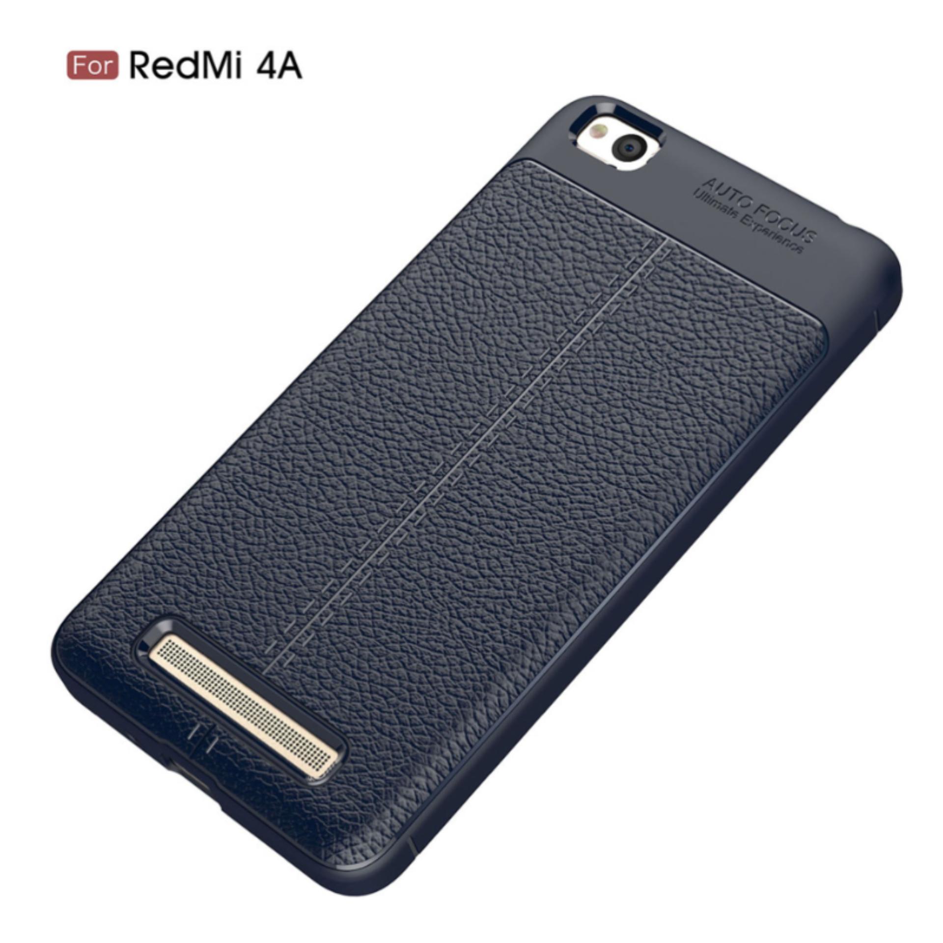 Case For Xiaomi Redmi 4a Slim Carbon Shockproof Hybrid Case Series Biru Navi