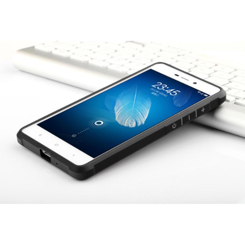 Case For Xiaomi Redmi 4a Slim Dragon Shockproof Hybrid Case Series Hitam .