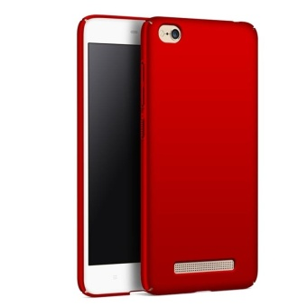 Case for Xiaomi Redmi 4A Ultra Thin Hard PC Back Case Smooth GripCover (Red)