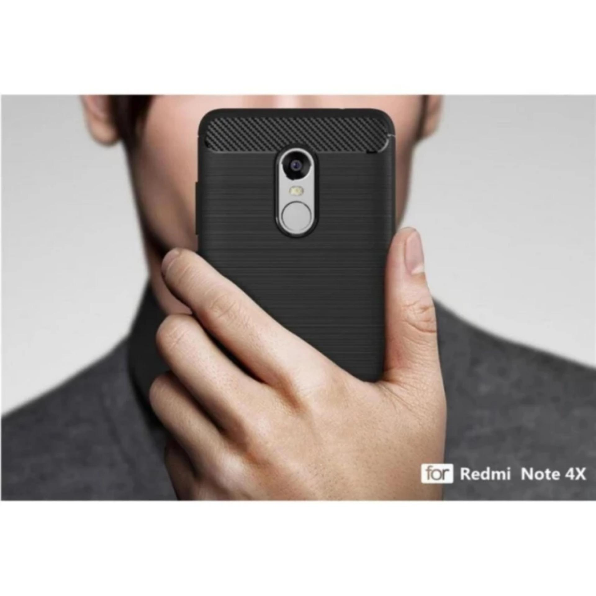 Case Ipaky Carbon Fiber for Xiaomi Redmi Note 4X Softcase Premium Shockproof TPU - Hitam ...