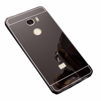 Case Metal for Xiaomi Redmi 4 Aluminium Bumper With Mirror BackdoorSlide - Black