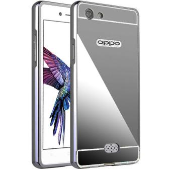 Case Oppo Neo 5 Bumper Mirror Slide - Hitam