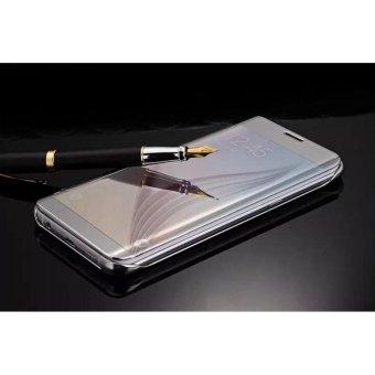 Harga Case Samsung Galaxy A3 2017 (A320) Flipcase Flip Mirror Cover SView Transparan Auto Lock Casing Hp Silver Terbaru klik gambar.