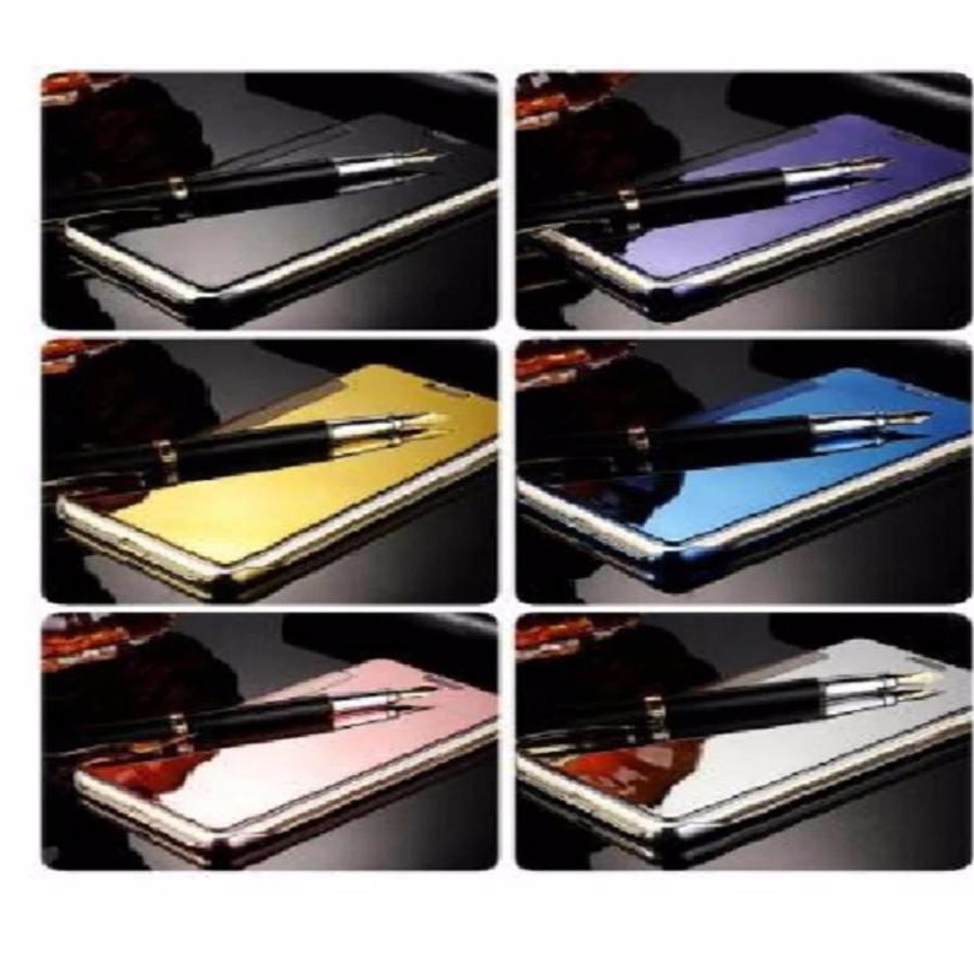 ... Case Samsung Galaxy A5 2016 Flipcase Flip Mirror Cover S View Transparan Auto Lock Casing Hp