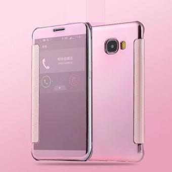 Harga Case Samsung Galaxy A5 2016 Flipcase Flip Mirror Cover S ViewTransparan Auto Lock Casing Hp Rose Gold + Free USB LED Terbaru klik gambar.