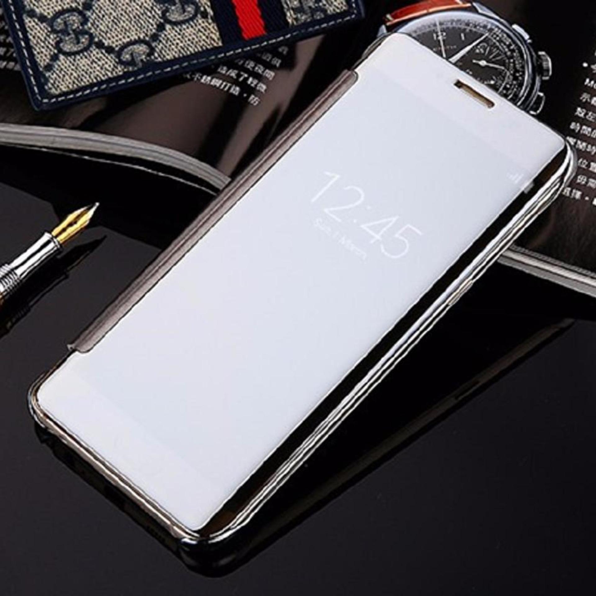 Case Samsung Galaxy J5 Prime Flipcase Flip Mirror Cover S ViewTransparan Auto Lock .