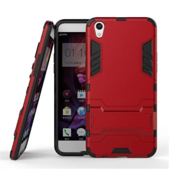 Case TPU + PC Hard Case for Oppo F1 Plus ( R9 ) - Red