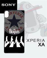 Casing Custom  Case Cover Hard Case Sony Xperia XA 1 Ultra The Beatles Converse All Star Case