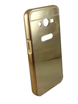 Casing Metal Bumper Mirror for Samsung Galaxy V / V plus - Gold .
