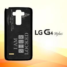 Casing Untuk LG G4 Stylus Benedict Sherlock Wallpaper Movies E1117