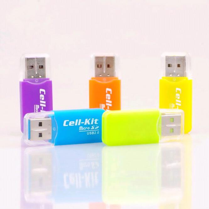 CatWalk USB 2.0 mikro disebut TF SD t flash memori card readeruntuk adaptor 32 GB 64