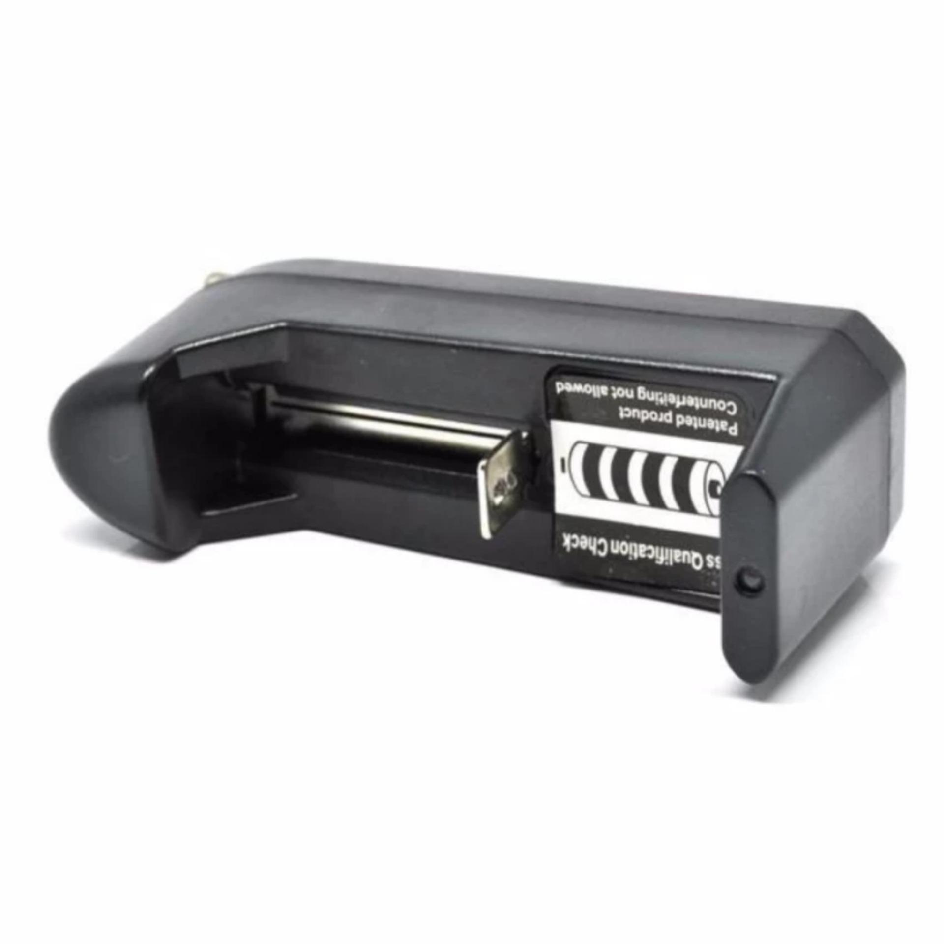 Charger Baterai Rokok Elektrik Senter Tipe 18650 18350 18500 Full Desktop 1 Slot Kipas Pb Single Vape Eletrik Awt