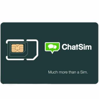 ChatSim sim card seluruh dunia chat message emoji whatsapp