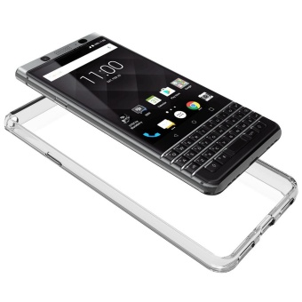 Clear Hybrid TPU Bumper Hard Back Phone Cover Case for Blackberry KEYone - intl