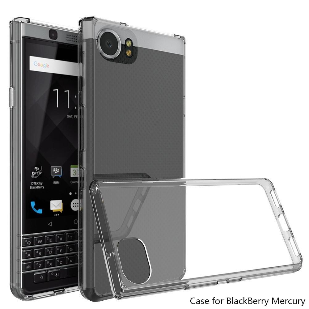 Clear Hybrid TPU Bumper Hard Back Phone Cover Case for Blackberry KEYone -