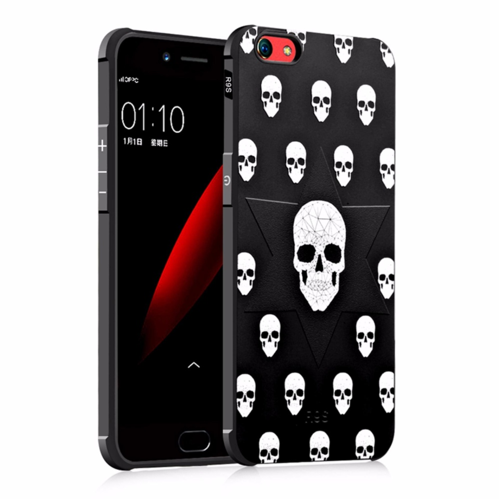 COCASE Solid color Silicone phone case for Oppo F3/A77(Skull .