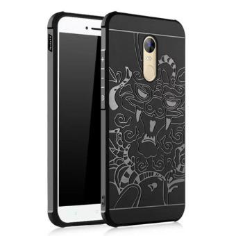 Cocose Drop Resistance Armor Carved Dragon Silikon Back Case For Xiaomi Redmi Note 4X - Hitam