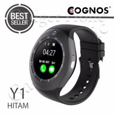 Cognos Y1 Smartwatch GSM Sim Card - Hitam
