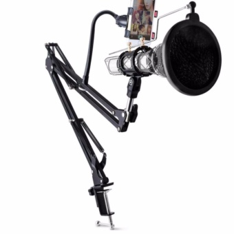 Condenser Microphone & Phone Stand Holder 360 Degree Mic Lazypod s8028