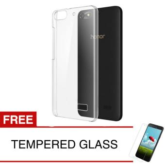 Crystal Case for Huawei Honor 4C - Clear Hardcase + Gratis Tempered Glass