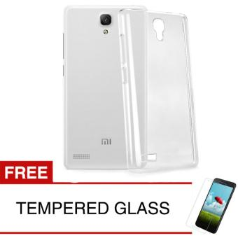 Crystal Case for Xiaomi Redmi Note 1 - Clear Hardcase + Gratis Tempered Glass