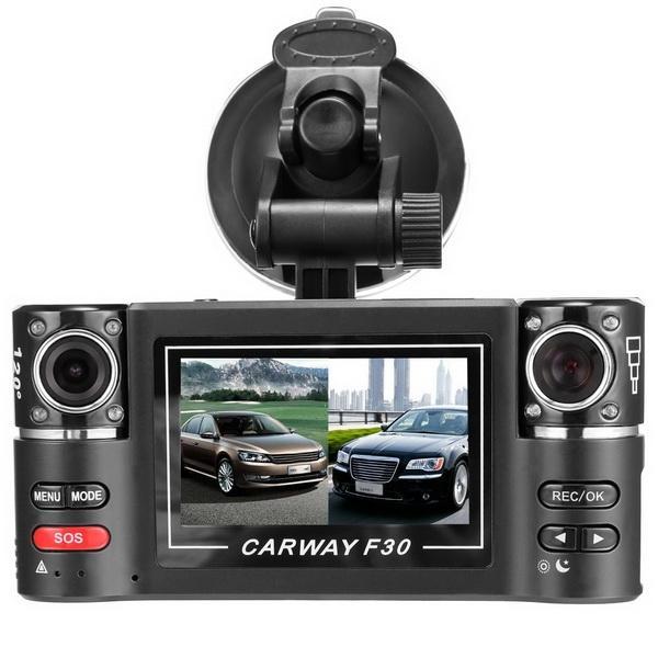 Cyber 2.7inch Dual Lens Car Vehicle 5MP HD Dash Camera DVR Cam Night Vision Recorder Kit (Black)