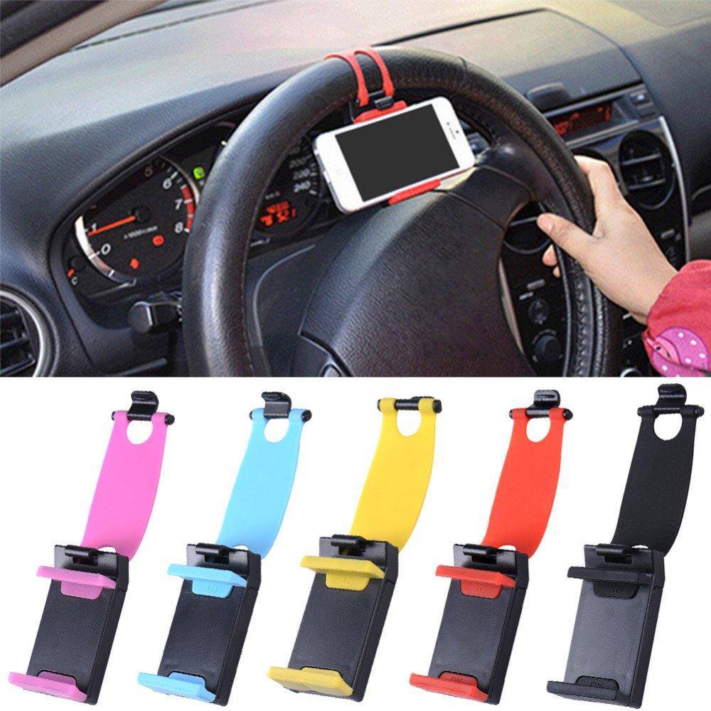 Dbest Car Steering Wheel Phone Socket Holder - Random Colour