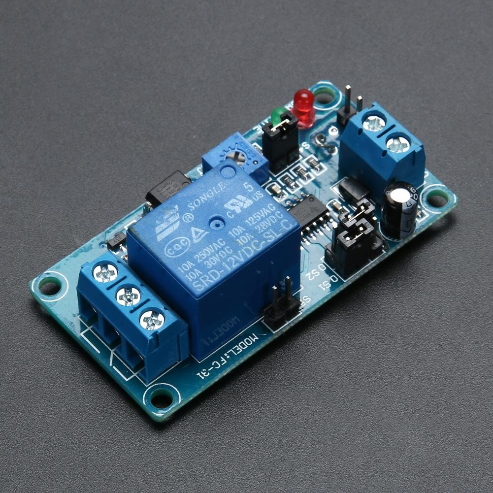 Online Murah Dc 12v Delay Relay Time Turn On Off Vibration Switch Module Intl