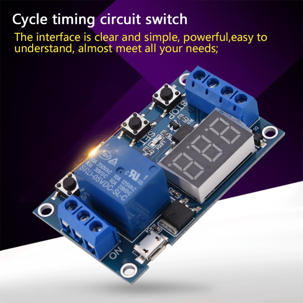 Perbandingan Harga Dc 6v30v Trigger Delay On Off Cycle Timer Relay Switch Modulew Digit