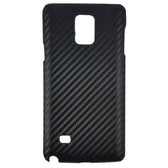 Delcell Carbon Case For Samsung Galaxy Note 4 - Hitam