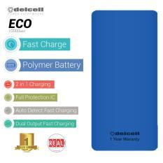 Delcell ECO Powerbank 10000mAh Real Capacity - Blue