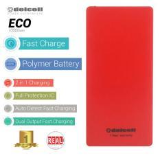 Delcell ECO Powerbank 10000mAh Real Capacity - Red