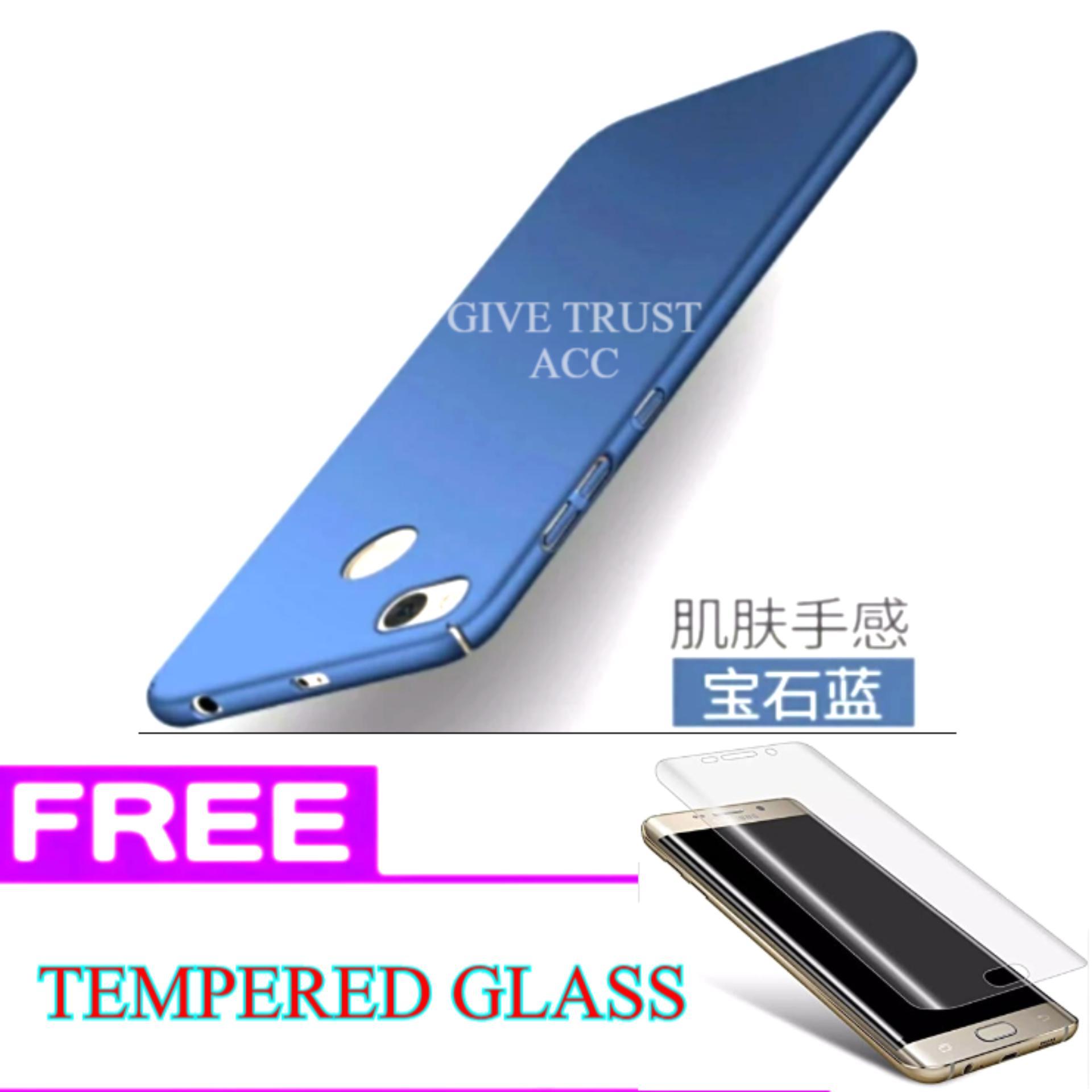 Delkin Hard Case for Xiaomi Redmi 4X + Free Tempered Glass .