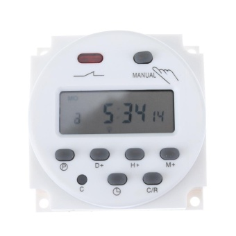 Harga Digital LCD Display Power Timer Weekly 7Days Programmable Time Relay Switch(White)-12V - intl