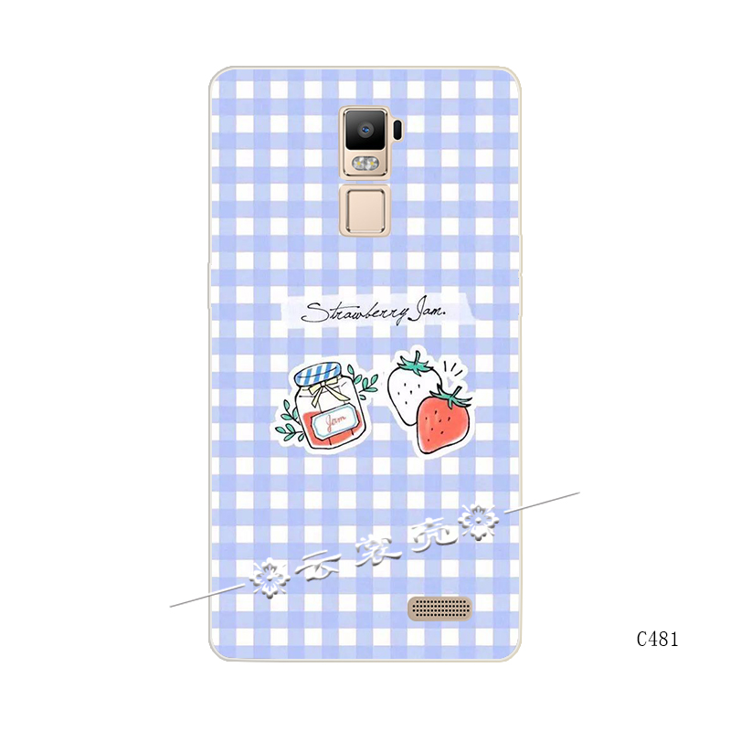 Ditambah oppor7 inggris all-inclusive lembut silikon strawberry lengan pelindung shell telepon